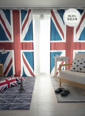 영국 국기 세미 암막커튼